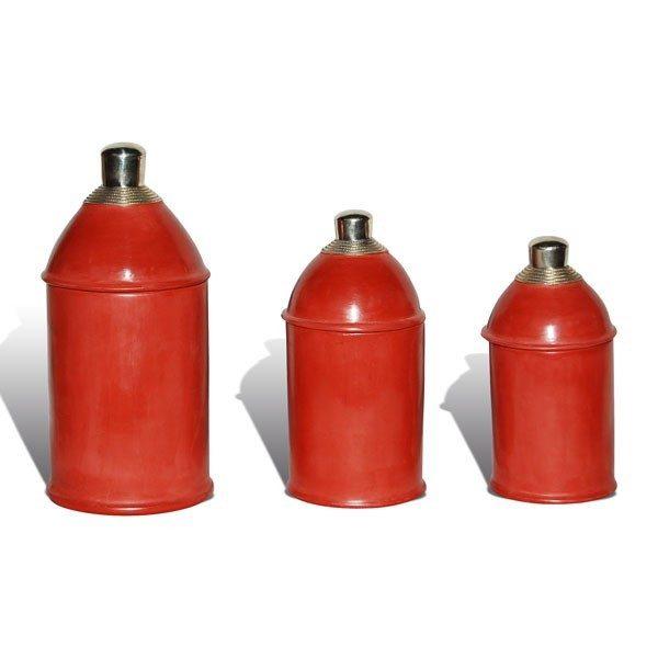 Boite tadelakt kasbah rouge brique
