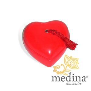 Boite coeur tadelakt rouge