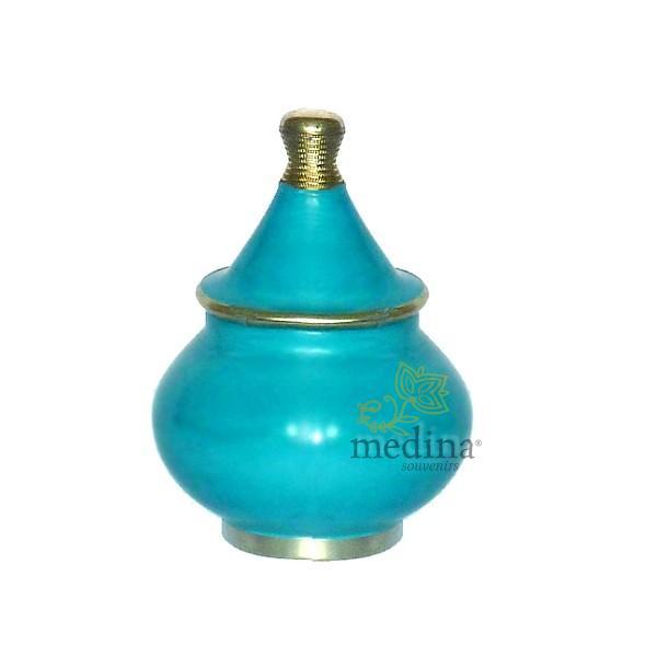 Boite tadelakt design fessi bleu turquoise