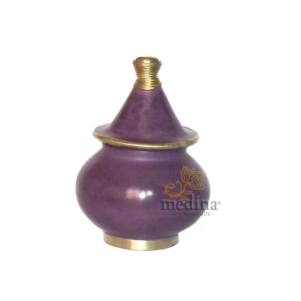 Boite tadelakt design fessi violet