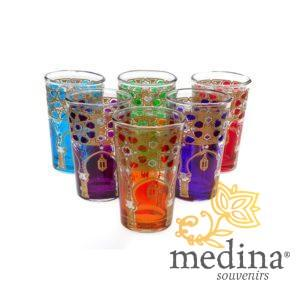 Verres a thé menara multicolors