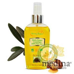 Huile d'Argan cosmétique pure 100% bio, huile d'argan bio - 125 ml