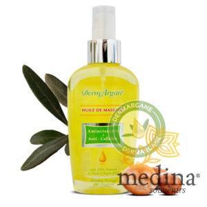 Huile de massage amincissante et anti-cellulite à base d'Argan 125ml