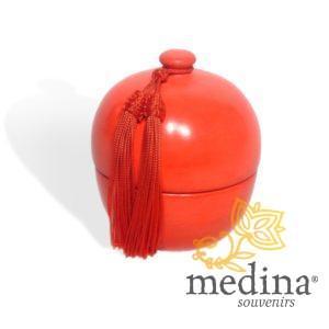 Bougie parfumée boule en tadelakt design rouge