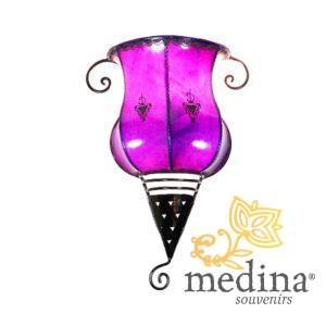 Applique fer forgé Salma violet