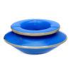 Grand cendrier marocain tadelakt large bleu, grand cendrier design 100% fait main, avec couvercle stop fumée