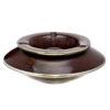 Grand cendrier marocain tadelakt large chocolat, grand cendrier design 100% fait main, avec couvercle stop fumée