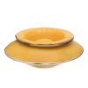 Grand cendrier marocain tadelakt large jaune, grand cendrier design 100% fait main, avec couvercle stop fumée
