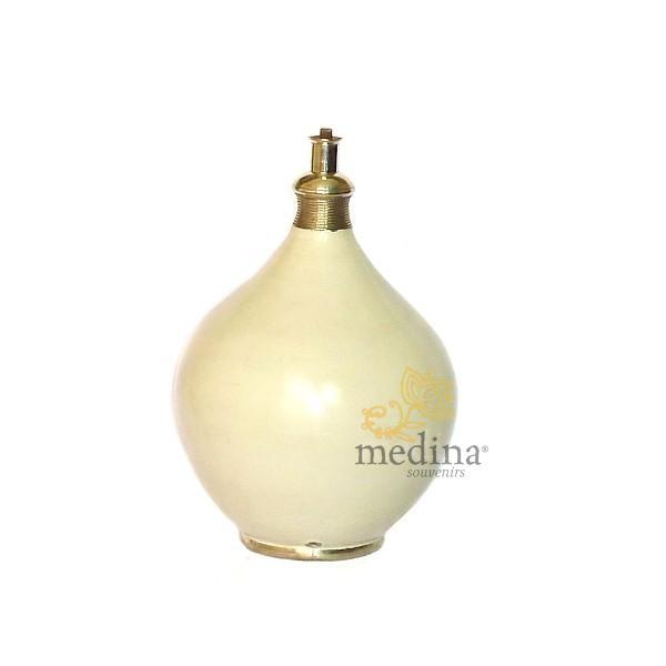 Pied de lampe design en Tadelakt Roumana ivoire