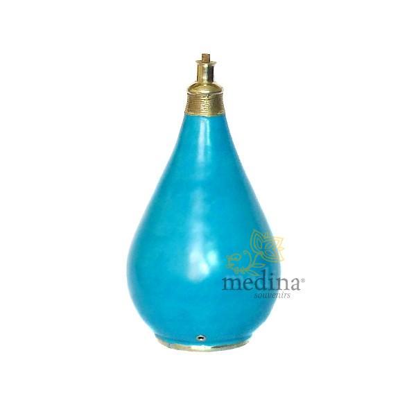 Pied de lampe traditionnel en Tadelakt turquoise