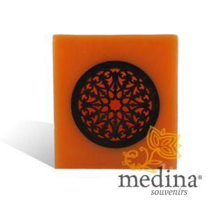 Photophore cube motif rosaceen orange