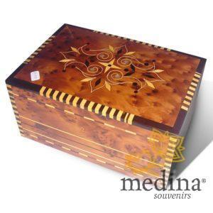 Boîte en bois de thuya et citronnier