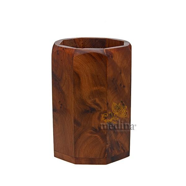 Pot a crayons en bois de thuya
