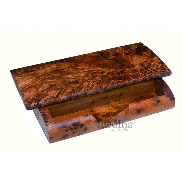 Boite pot à stylos et crayons en bois de thuya