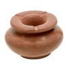 Cendrier de Marrakech en Tadelakt caramel couvercle stop fumée, cendrier artisanal, objet deco 100% fait main