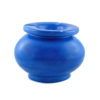 Cendrier de Marrakech en Tadelakt bleu couvercle stop fumée, cendrier artisanal, objet deco 100% fait main