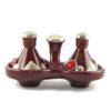 Tajine deux épices, deux tajines marocains a épices couleur bordeau