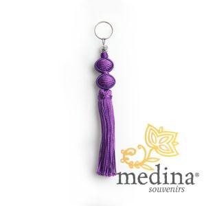 Porte cles Marina, porte cle en soie couleur Violet