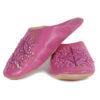 Babouche marocaine originales Paloma fuchsia, pantoufles alliant du confort et de l'élégance, chaussons cousus main
