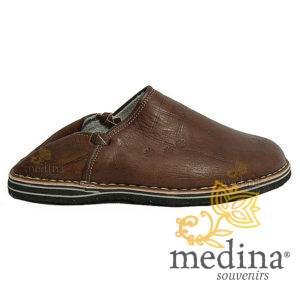 Babouche Touareg homme et femme couleur marron babouches confortables et solides chaussons robustes pour un usage quotidien