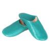 Babouche Kenza turquoise Babouche marocaine en cuir véritable pantoufles alliant confort et élégance