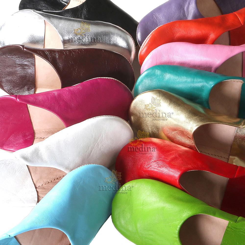 Babouche Kenza fuchsia Babouche marocaine en cuir véritable pantoufles alliant du confort et élégance