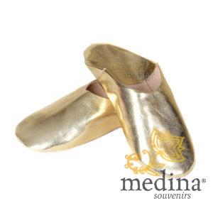 Babouche Kenza couleur Or Babouche marocaine en cuir véritable pantoufles alliant confort et de élégance