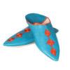 Babouche Mouna turquoise babouche luxe de Fez à bout pointu en cuir veritable et broderies de soie chaussons fait main