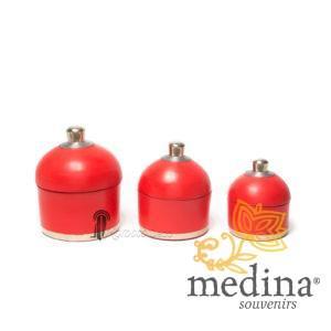 Boite ronde maissa rouge