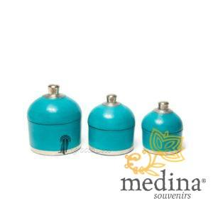 Boite ronde maissa turquoise