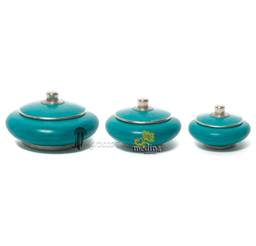 Boite tadelakt tunsia turquoise