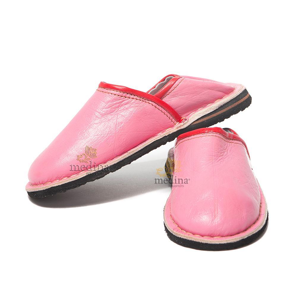 Babouche Touareg enfant mixte rose, babouches confortables et solides, chaussons robustes