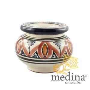 Cendrier marocain fait main rouge et bleu