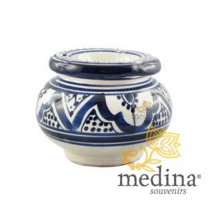 Cendrier marocain fait main bleu et blanc