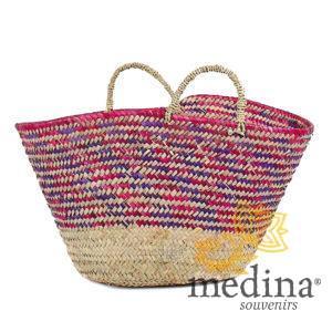 Panier marocain design avec poignées en corde tréssée