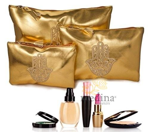 Lot de 3 Pochettes Make Up Orientales en Simili Cuir